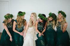 Free People bridesmaid dresses...so stylish! Photo Credit: http://www.katelovephoto.com/ From http://greenweddingshoes.com/free-spirited-texas-hill-country-wedding-becky-garrett/
