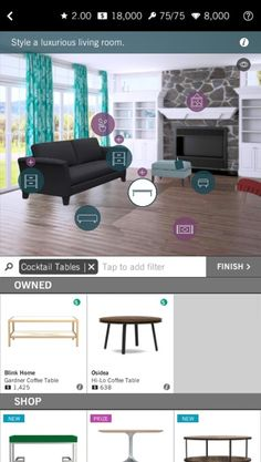 Unleash Your Inner Virtual Interior Decorator - App - Xiaomi MIUI Official Forum Video Game Reviews, Social Games, Played Yourself, Cocktail Tables, Game Design, Google Play, Ios, Interior Decorating, Android