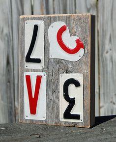 Love - License plate art - Heart