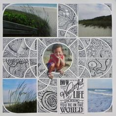 French Photo Collage Meets Zen by AnniePanda - Cards and Paper Crafts at Splitcoaststampers