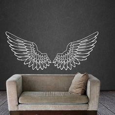 Alas de Angel alas pared calcomanía vinilo por WisdomDecals en Etsy