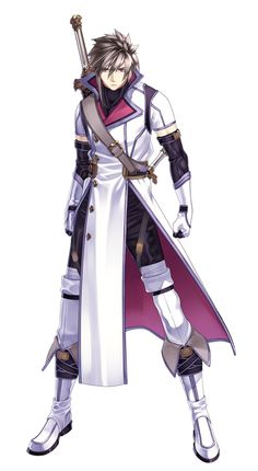 Weiss - Record of Agarest War 2 Fantasy Character Design, Character Design Inspiration, Character Concept, Character Art, Character Ideas, Manga Anime, Art Manga, Anime Boys, Fantasy Rpg