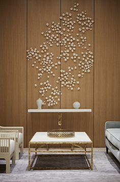 """Projetado por David Chipperfield o luxuoso edifício """"One Kensington Gardens"""" em Londres, têm 97 apartamentos, quatro decorados por Taylor Howes. Karen Howes"""
