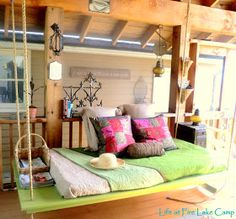 Life at Fire Lake Camp: Our Dreamy Hanging Bed.....How awesome is this! Some day :)