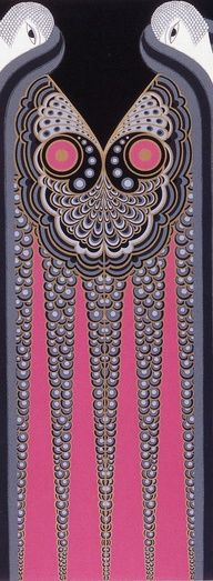 Erte' - Art Deco design... would be so cool as a sleeve with the heads wrapping over the shoulders