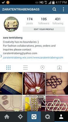 Follow us on instagram @zaratentriabengbags
