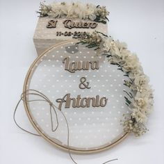 Elegant Wedding Welcome Signs You Will Like; Wedding Welcome Sign; Welcome Sign; Embroidery Hoop Crafts, Wedding Embroidery, Hand Embroidery Videos, Hand Embroidery Art, Wedding Crafts, Wedding Art, Elegant Wedding, Wedding Decorations, Ring Holder Wedding