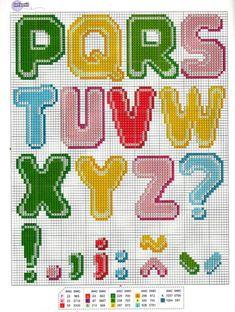 593 fantastiche immagini in schemi punto croce su for Lettere alfabeto punto croce per bambini