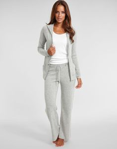 301d7c15c3f0 Figleaves Nightwear Bliss Cashmere Hoody and wide leg pant Lounge Pants