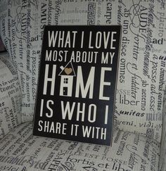 What I love most about my home...