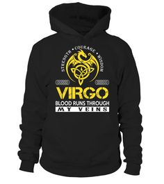 VIRGO - Blood Runs Through My Veins  #birthday #september #shirt #gift #ideas #photo #image #gift #study #virgo #schoolback #Horoscope