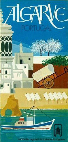 illustration portugaise : affiche de tourisme,  Algarve