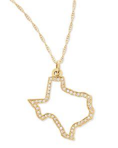 Maya Brenner Designs Pave Diamond State Necklace - Neiman Marcus