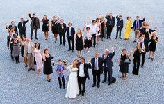Guppenfoto-Idee zur Hochzeit #gruppenfoto #hochzeit
