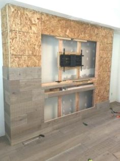 Decor ideas for living room with fireplace tv walls Trendy Ideas unit design With Partition Teen Room Designs, Living Room Designs, Living Room Tv, Living Room With Fireplace, Tv Wall Design, House Design, Fireplace Tv Wall, Fireplace Ideas, Cool Basement Ideas