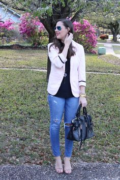 Pink Blazer via With Style and a Little Grace