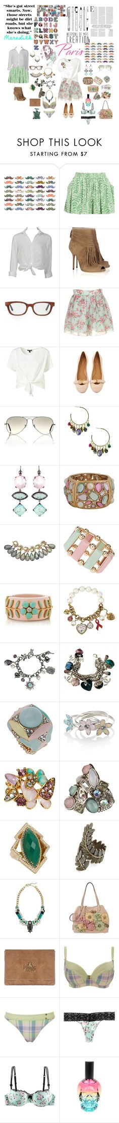 """""""meredith x paris"""" by dani-elle ❤ liked on Polyvore featuring Jessica Simpson, DuÅ¡an, Vanessa Bruno Athé, Charlotte Russe, Gucci, Illesteva, Rayban, BKE, Pintaldi Maurizio and Forever 21"""