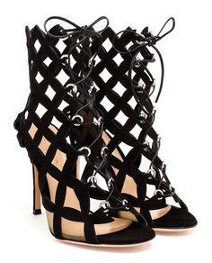 GIANVITO ROSSI | Cutout Suede Sandals