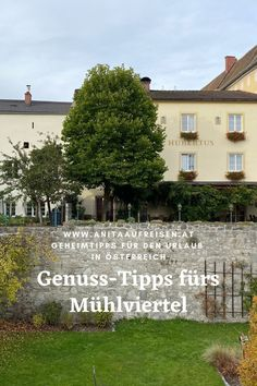 Das Mühlviertel in Oberösterreich ist ein echter Geheimtipp für alle Feinschmecker und Naturfreunde. Abseits der Massen kann hier in aller Ruhe durch die Natur gewandert werden und viele regionale Spezialitäten gekostet werden. Im Blogbeitrag erfährst du, wo sich der kulinarische Stopp wirklich lohnt und was du auf keinen Fall verpassen solltest. Mansions, House Styles, Home Decor, Fall Landscape, Brewery, Agriculture, Road Trip Destinations, Alps, Decoration Home