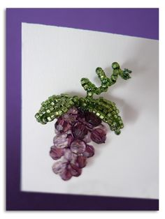 Beaded Grape Name Card