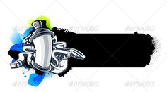 Buy Graffiti Image by Vecster on GraphicRiver. Graffiti image of can with arrows. Music Graffiti, Graffiti Pictures, Graffiti Drawing, Graffiti Lettering, Street Art Graffiti, Spray Tattoo, Graffiti Characters, Bottle Cap Images, Inspirational Wall Art