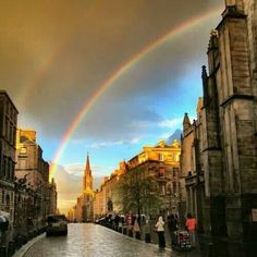Rqinbow on the Royal Mile, Edinburgh, Scotland Scotland Uk, England And Scotland, Edinburgh Scotland, Scotland Travel, Edinburgh Travel, Edinburgh Castle, Places To Travel, Places To See, Nevada