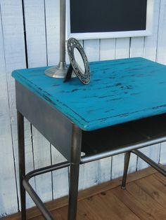 Old School Desk Wooden Entry Way Table in Distressed by TRWpainted, $195.00
