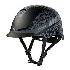 TX Horse Riding Helmet Black Camo - Item # 43655