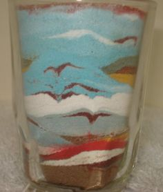 sand art in glass cup