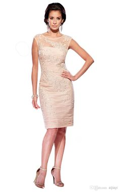 Wholesale cheap mother Of The bride dresses online, 2014 fall winter - Find best hot ! free shipping new 2014 mother Of The bride dresses knee - length 2014 formal dress elegant lace appliques evening dress women at discount prices from Chinese mother Of The bride dresses supplier on DHgate.com.