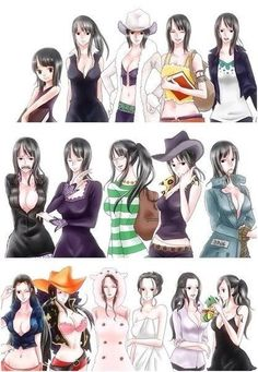 ONE PIECE, All Clothes of Nico Robin