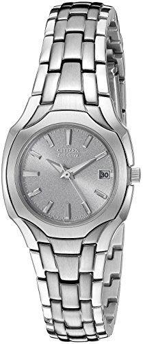 63716a6a57d0 Citizen Womens EW125054A EcoDrive Stainless Steel Watch Citizen Titanium  Watch