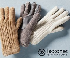 It's the most comfortable time of the year. Shop the warmest, coziest gloves at isotoner.com.