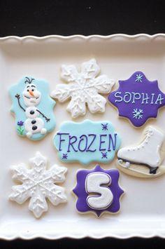 Sooner Sugar Cookies https://www.facebook.com/soonersugar  Frozen Cookies, Olaf cookies, Snowflake cookies, Ice skate cookies