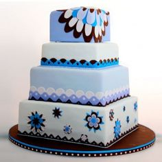 blue-brown-flower-grapfic-whimiscal-cakes-47957