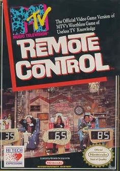 MTV Remote Control - NES Game Original Nintendo NES game cartridge only. All DK's classic used games are cleaned, tested, guaranteed to work and backed by a 120 day warranty. Retro Game Store, Nes Collection, Nes Games, Nintendo Games, Old Video, Ol Days, Do You Remember, Childhood Memories, 90s Childhood