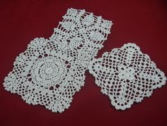 """Crocheted doilies  are another disappearing art. Made from thread, yarn or a combination of these. Patterns and color vary widely and depend on the skill of the person crocheting. I continue to use them in my home on tables, under items, and a large one on the back of my couch. The largest one I have is a 3 colored floral pattern tablecloth that resides on my """"formal"""" dinning table."""