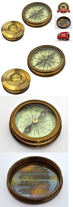 Vintage Mini Maritime Compasses Just Silvertone Finish Pocket Compass