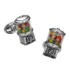 Gumball Machine Cufflinks by Jan Leslie