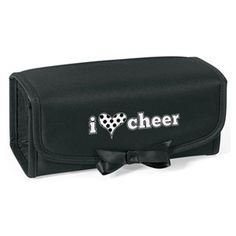 I+Heart+Cheer+Cosmetic+Bag+and+Accessory+Case by Cheerleading Company Cheerleading Company, Cheerleading Bags, Cheerleading Cheers, Cheer Coaches, Cheer Mom, Cheer Stuff, Cheer Backpack, Cheer Pom Poms, Cheer Makeup