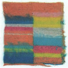 Sample for a throw  1927  Cotton and wool  16x15.5 cm    Misawa Homes Bauhaus Collection, Tokyo  Inv. No. 10003
