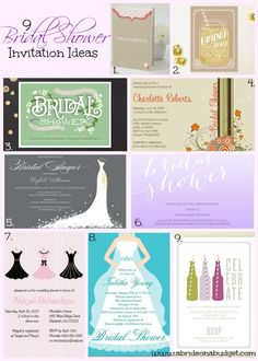 Planning a bridal shower? Get these 9 Bridal Shower Invitation Ideas from www.abrideonabudget.com.