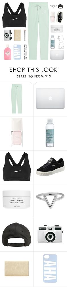 """S O N H O"" by naturitve ❤ liked on Polyvore featuring Juvia, Christian Dior, The Body Shop, NIKE, Puma, Byredo, ChloBo, Crabtree & Evelyn, Billabong and Holga"