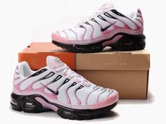 White Pink Black Air Max TN Fashion Nike Shoes Womens