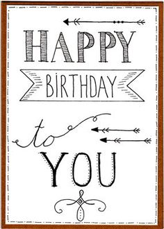 Handlettering Hand Lettering Related Post FREE! Handlettering Happy Birthday, Happy Birthday Hand Lettering, Happy Birthday Font, Happy Birthday Doodles, Belated Birthday, Birthday Quotes, Doodle Art For Beginners, Birthday Card Drawing, Birthday Letters