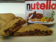 Cookies recheados de NUTELLA