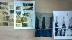 Laura Kozma: PRINTING Project - day 2 …first carborundum prints