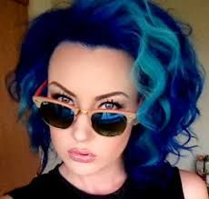 short hair with bright colors - Google Search