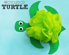 Lavoretto Tartaruga con CD riciclati