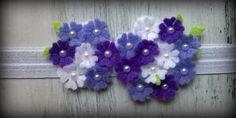 """Śliczna kwiatowa opaska do włosów """"De LiMi"""" - delimi_sklepik - Opaski dla niemowląt"""